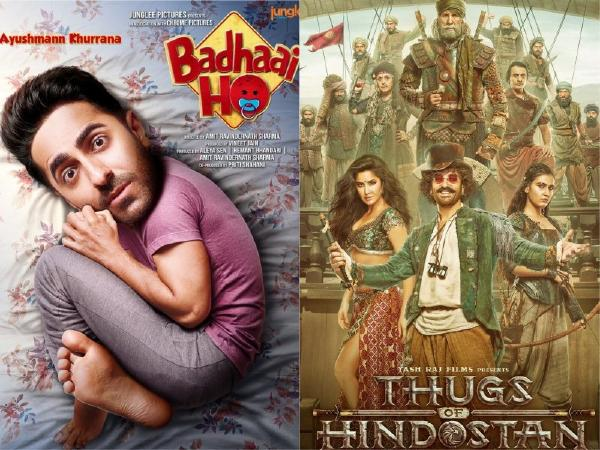 thugs of hindostan vs badhai ho